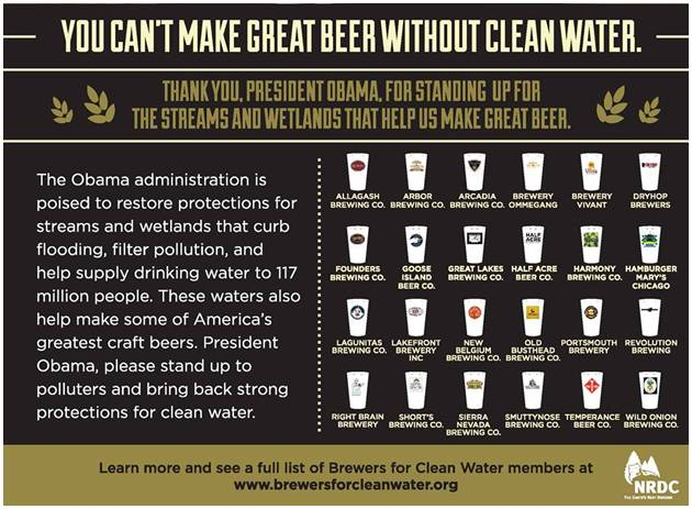 Craft Beer Clean Water