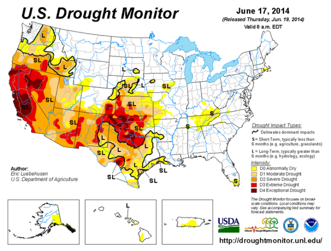 Drought Monitor 6-19-2014