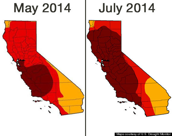 California Drought Map 0714